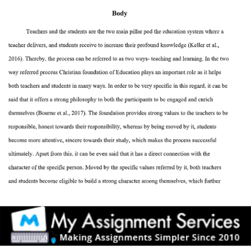 essay writing solved sample - body