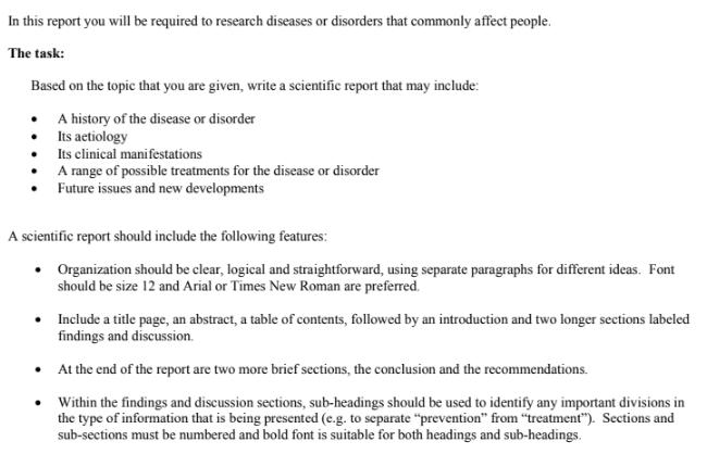 nursing assignment question sample
