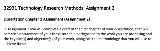 dissertation assessment sample