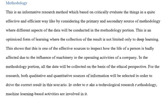 dissertation methodology assessment sample