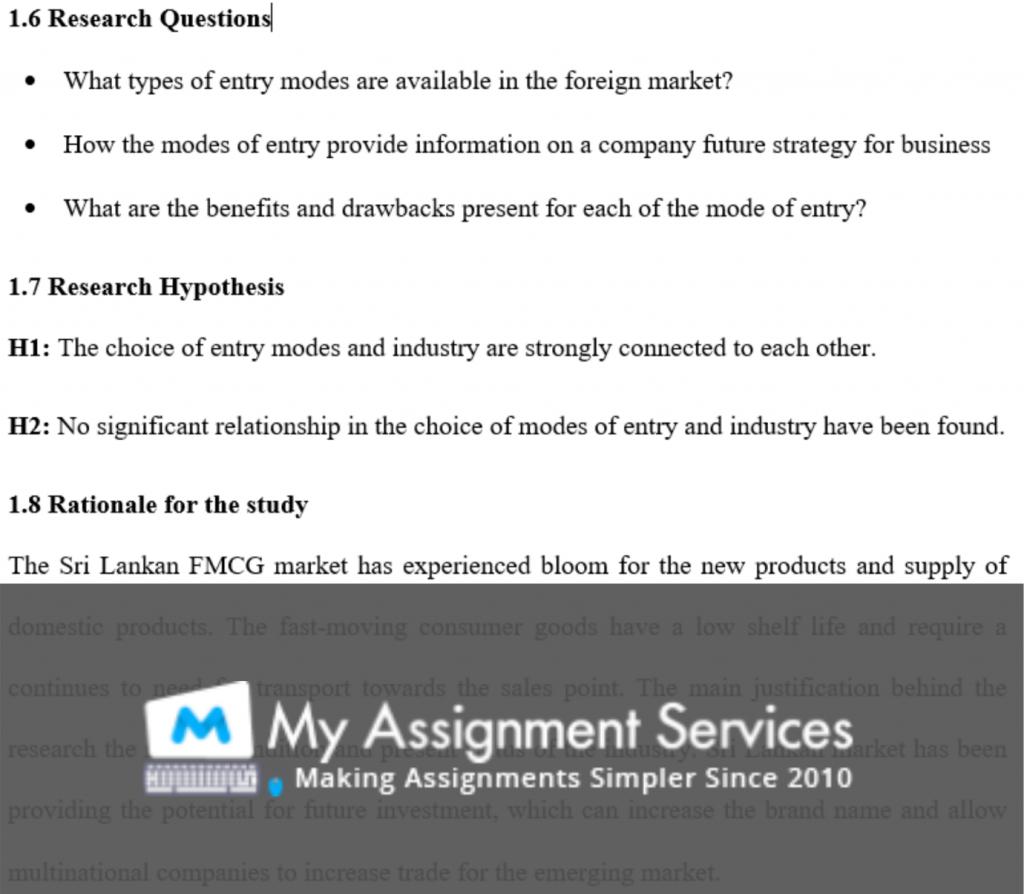 dissertation writing - assessment sample 2