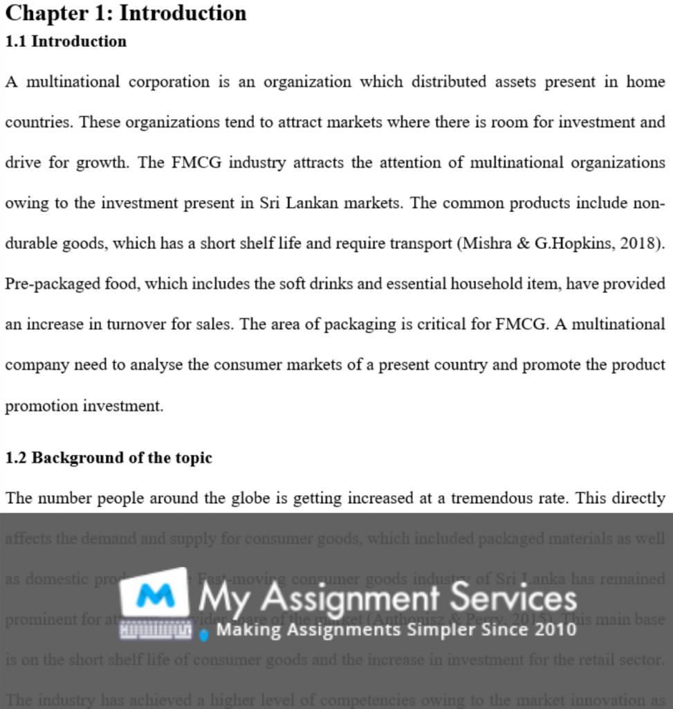 dissertation writing - assessment sample