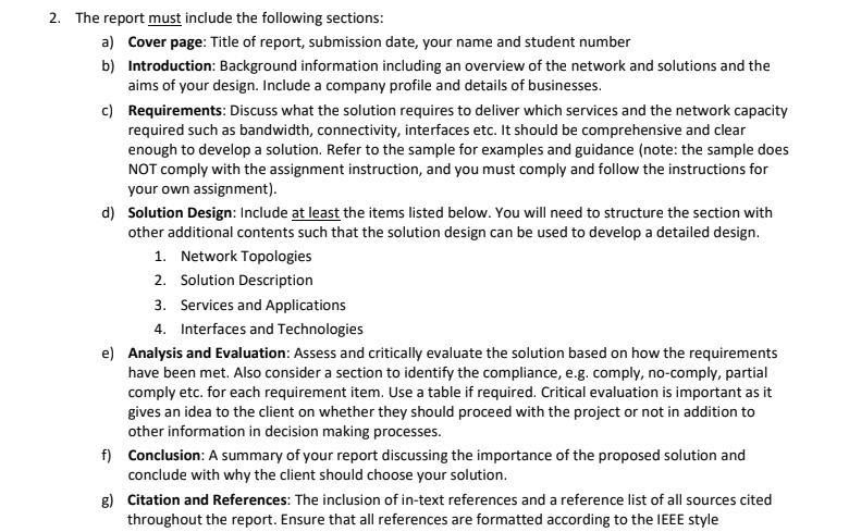 networking assignment sample 2