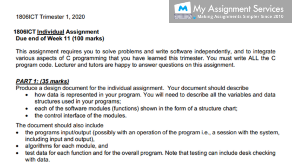programming assessment sample