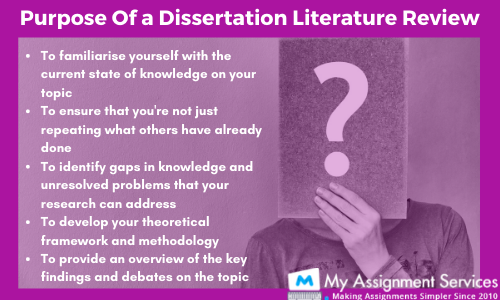 purpose of a dissertation literature review