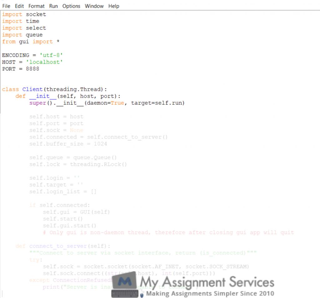 python assignment sample 2