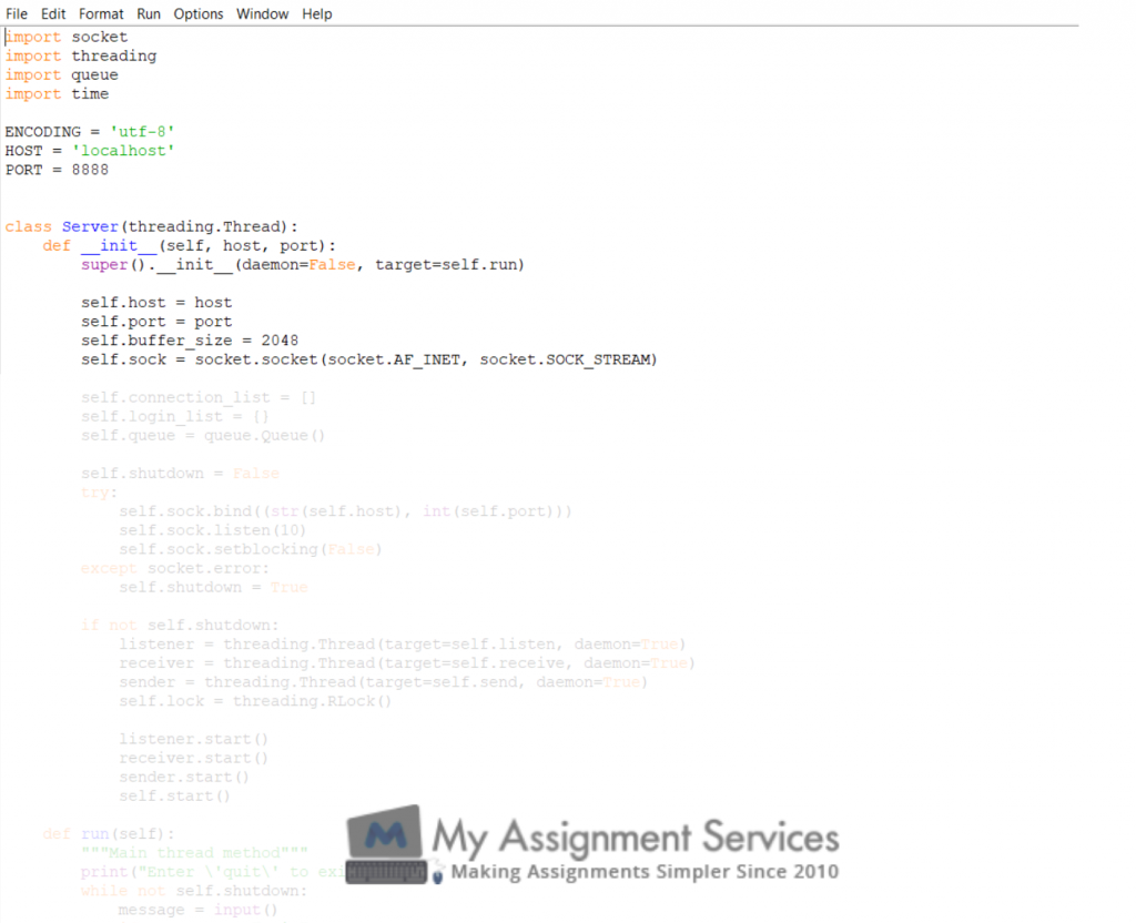 python assignment sample 3