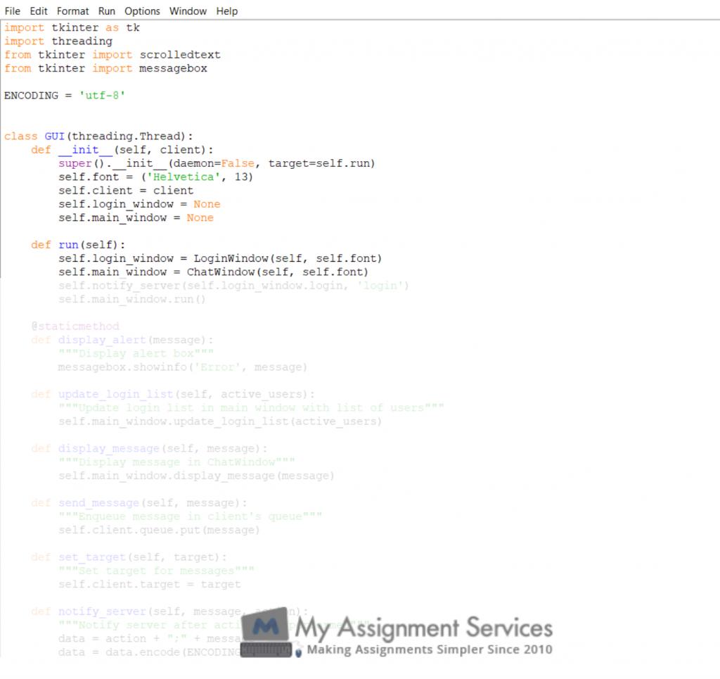 python assignment sample 4