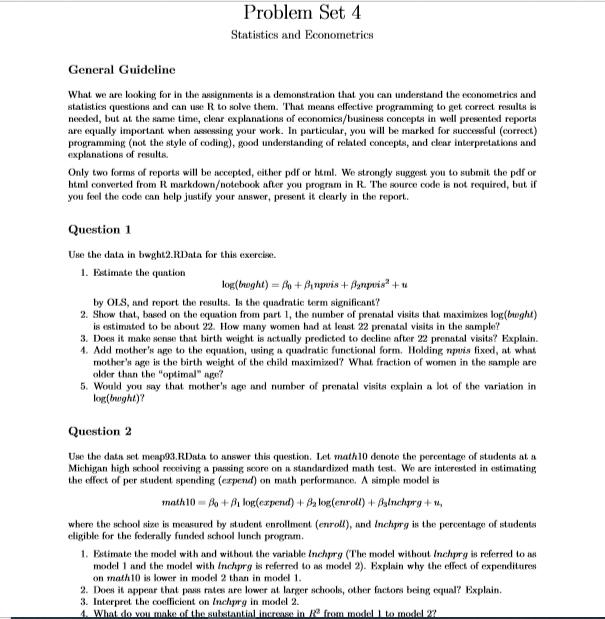 rstudio assignment sample