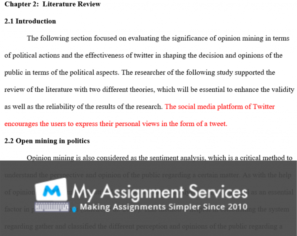 thesis assessment solution sample 3